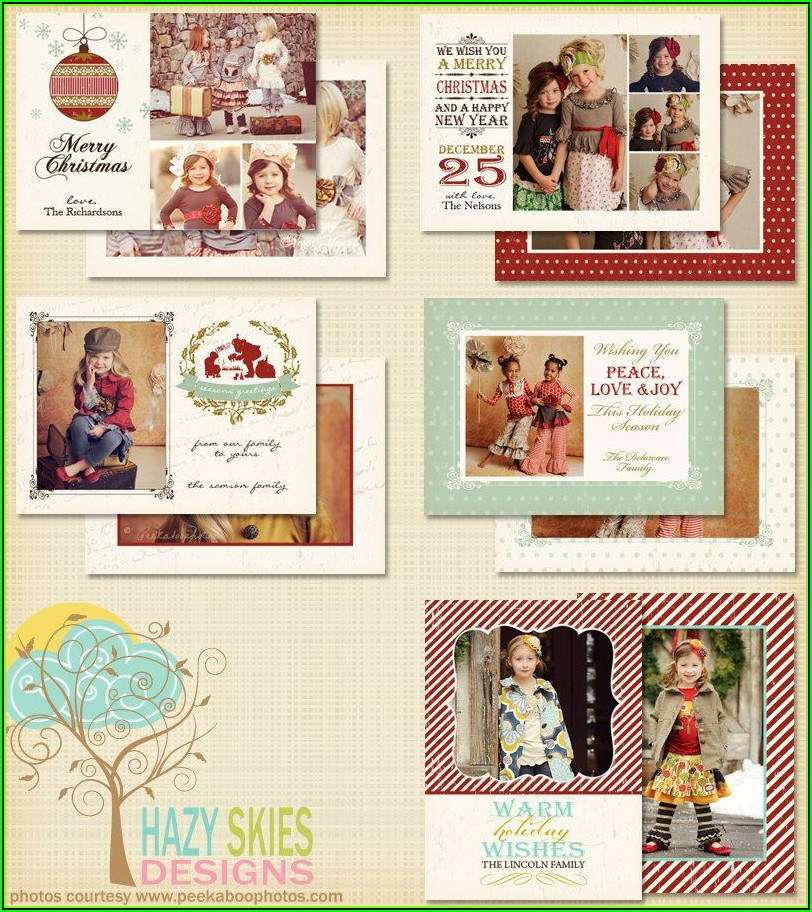 Etsy Christmas Photo Card Templates