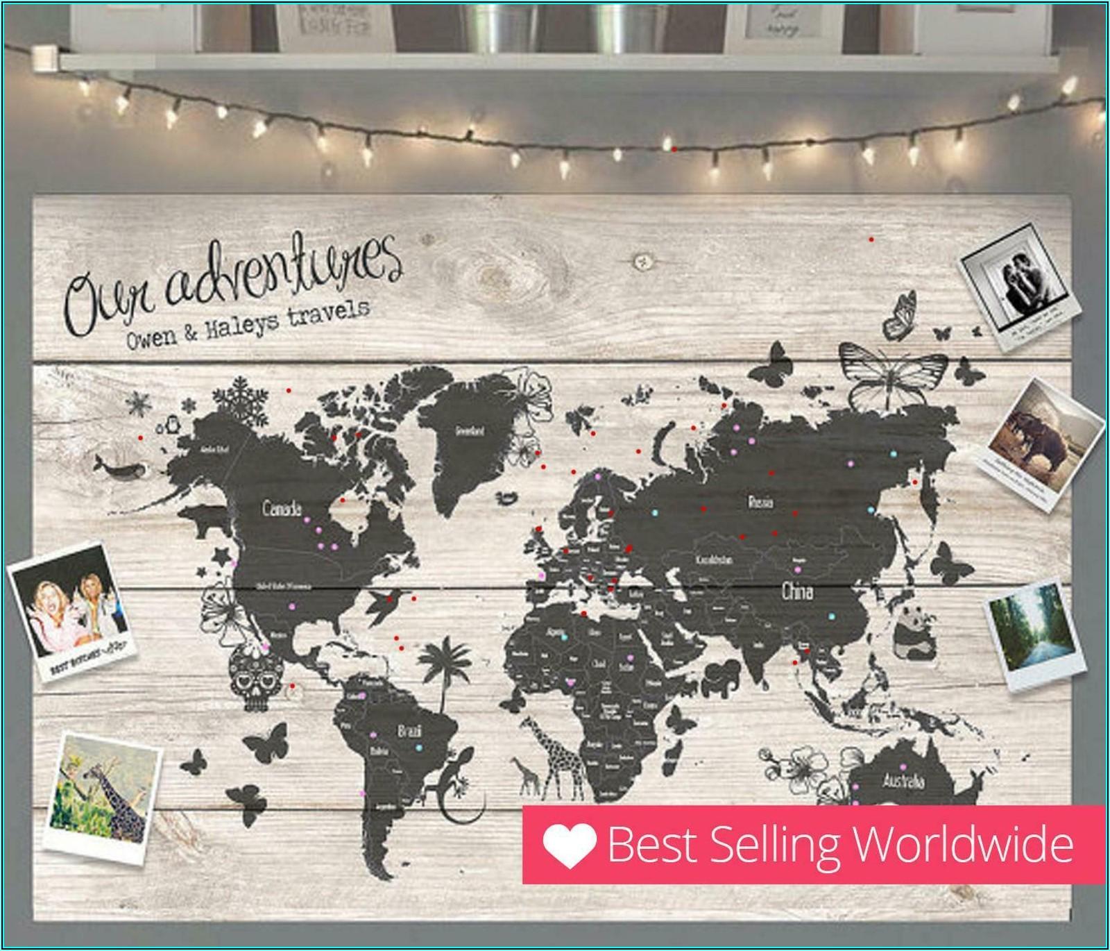 Extra Large Cork Board World Map