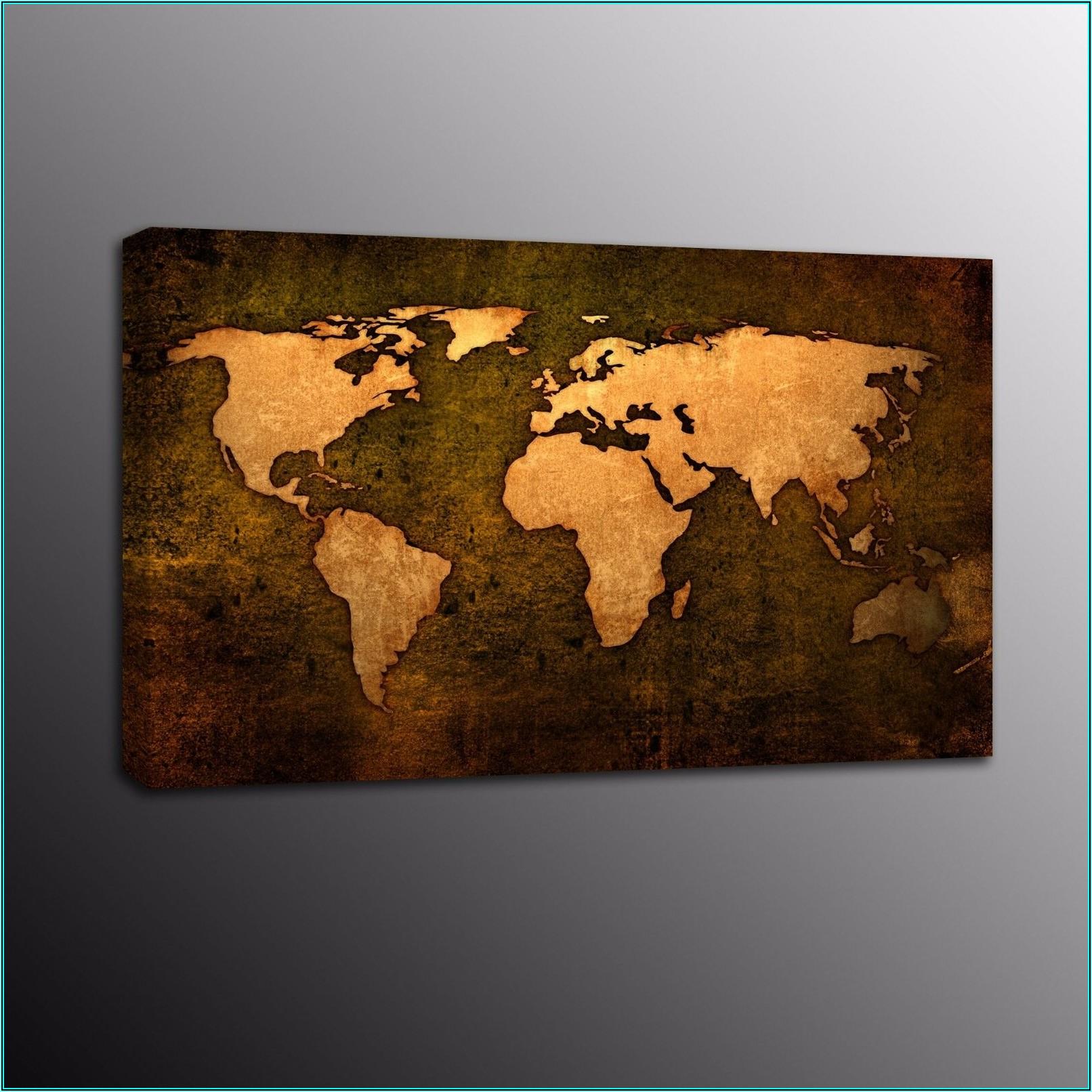 Extra Large Framed World Map