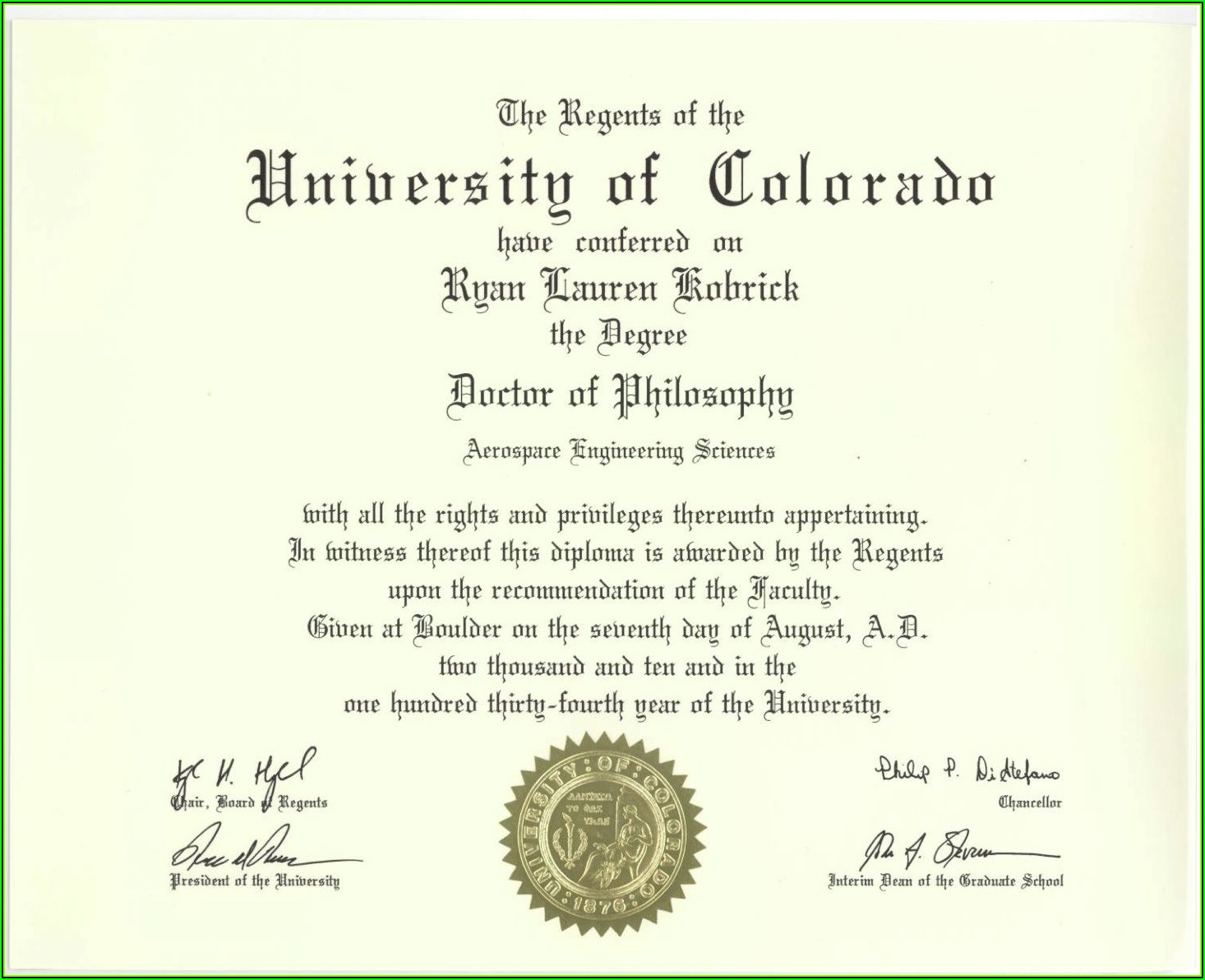 Fake Bachelor Degree Certificate Template