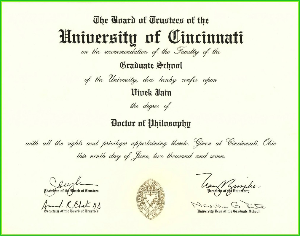 Fake Degree Certificate Template