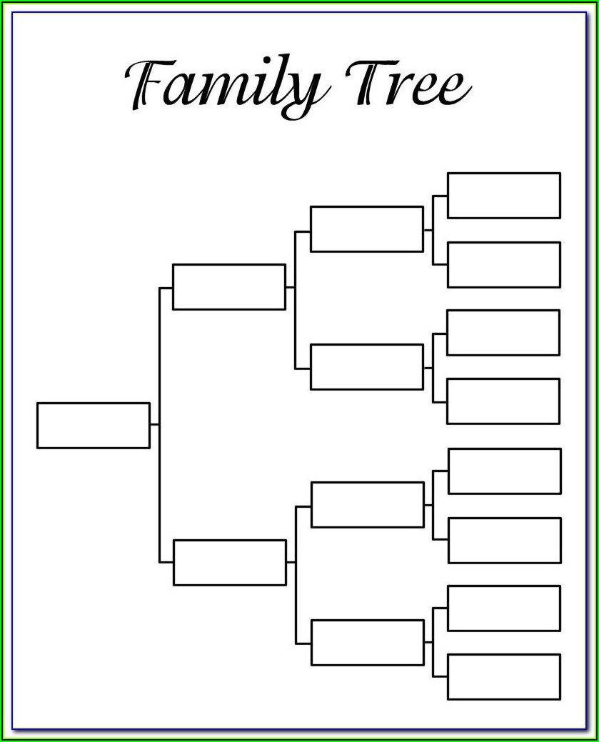 Family Tree Digital Scrapbook Template