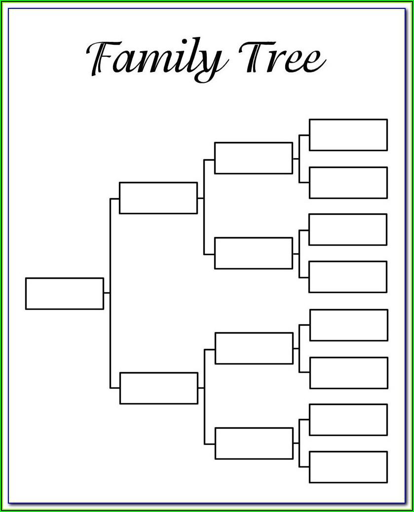 Family Tree Digital Scrapbook Template