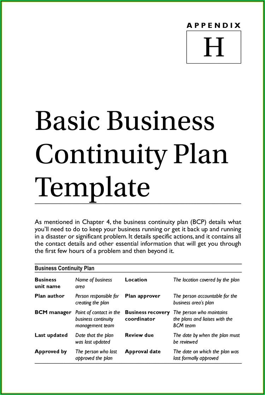 Fema Small Business Continuity Plan Template