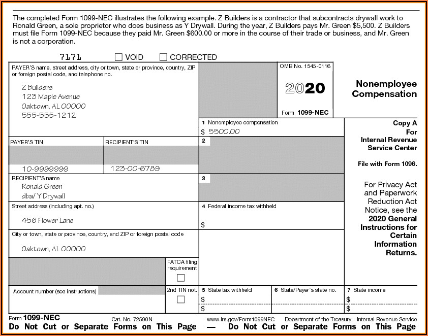 Fillable Form 1099 Misc 2019