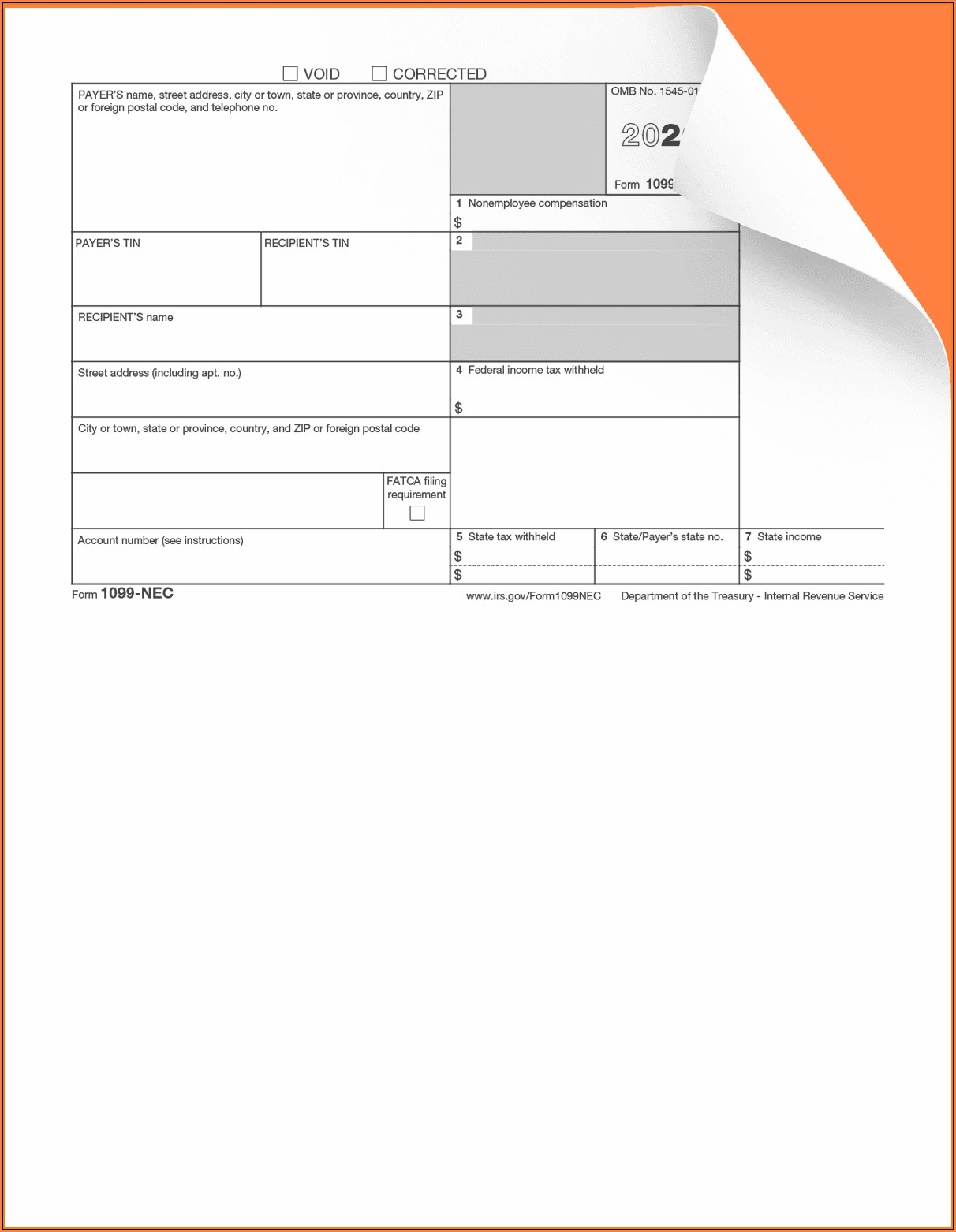 Fillable Form 1099 Nec