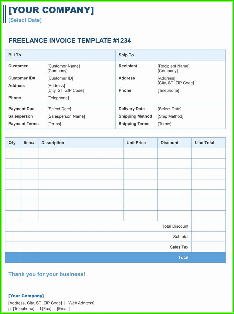 Form 1099 Template Word