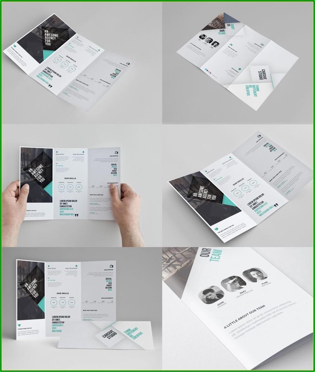 Free 3 Fold Brochure Template Psd