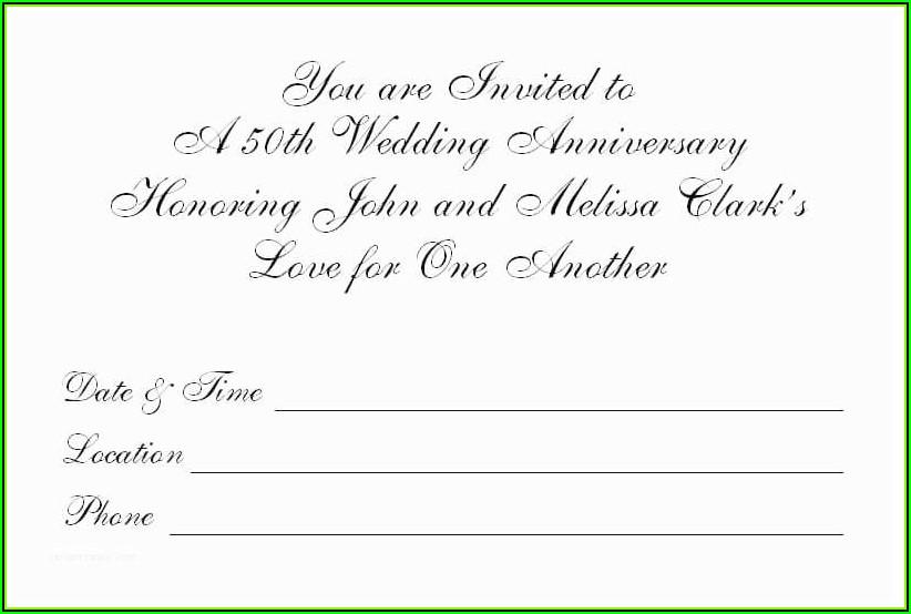 Free 50th Wedding Anniversary Program Templates
