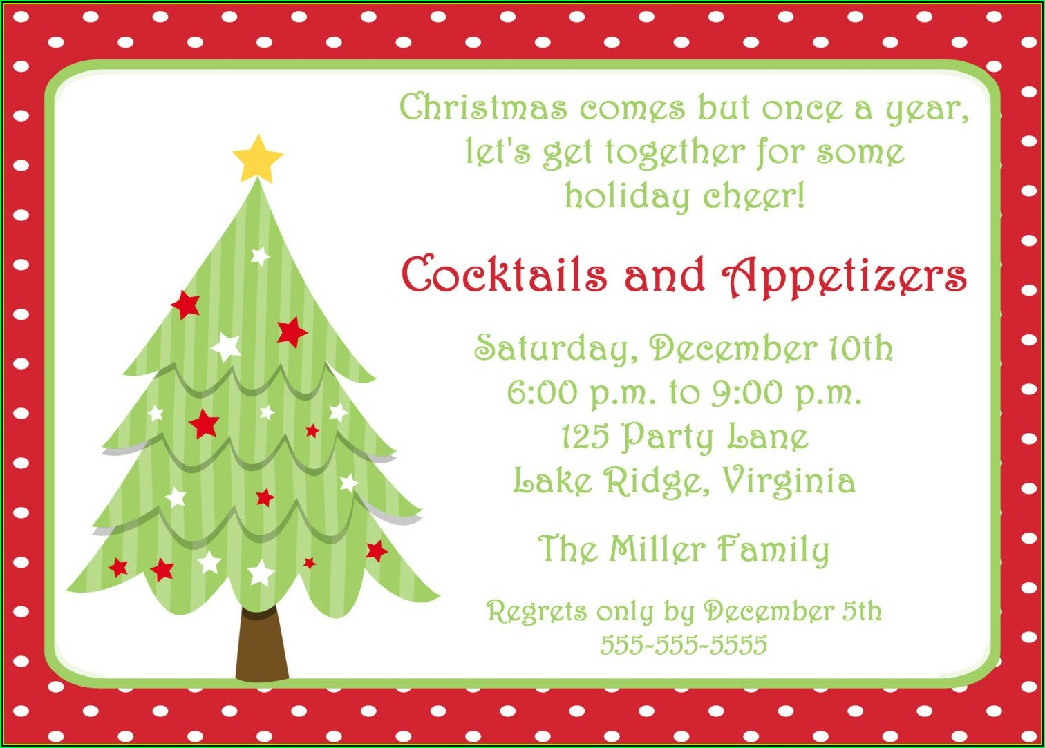 Free Downloadable Holiday Invitation Templates