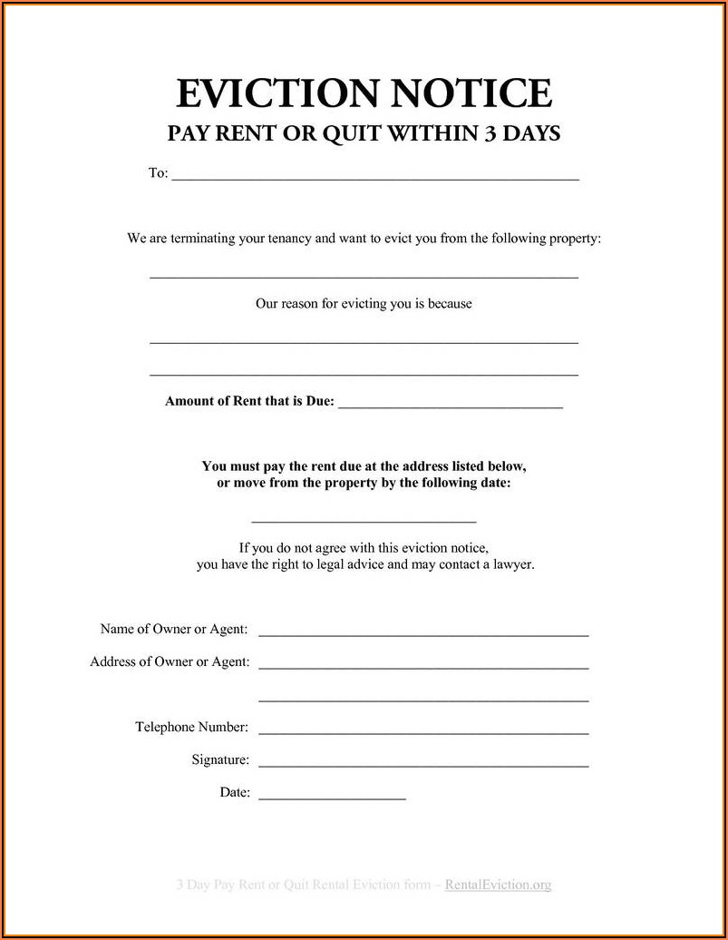 Free Florida Eviction Notice Forms