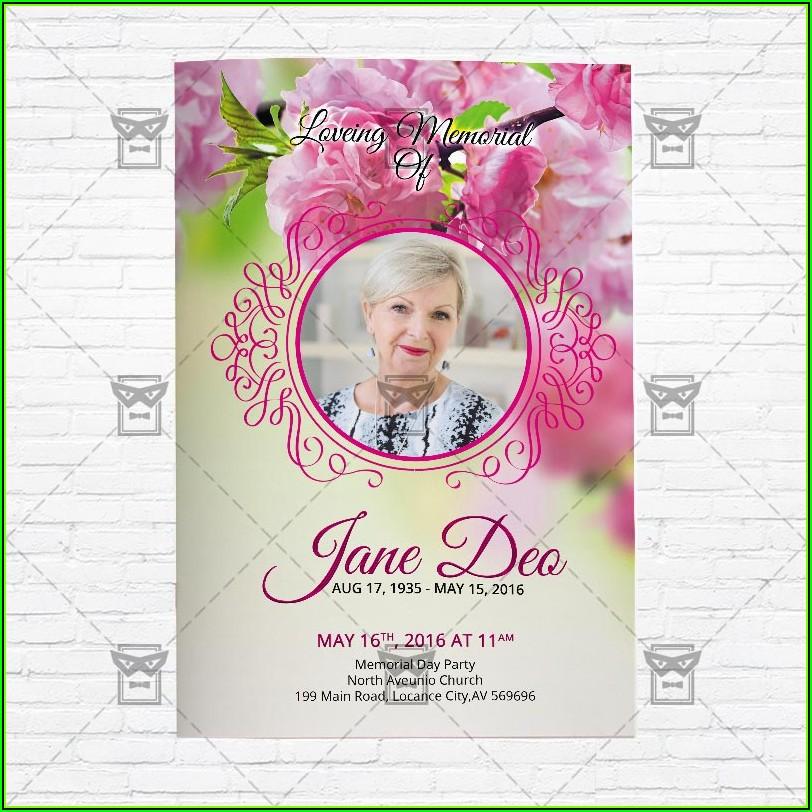 Free Funeral Program Brochure Psd Template