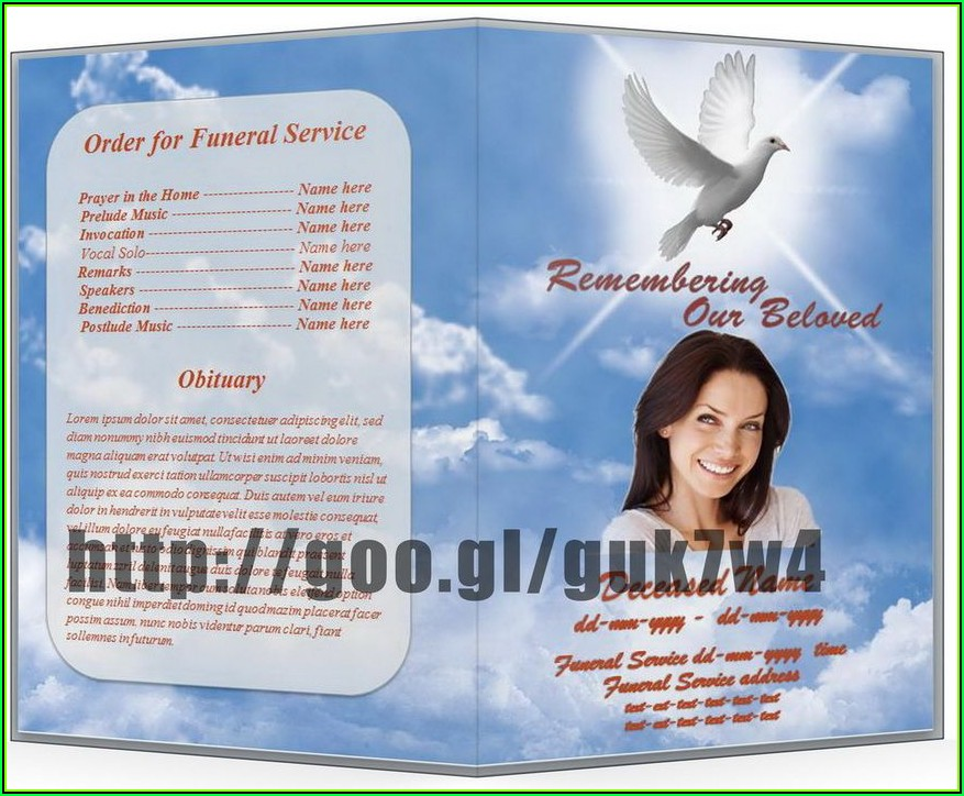 Free Funeral Program Templates For Word