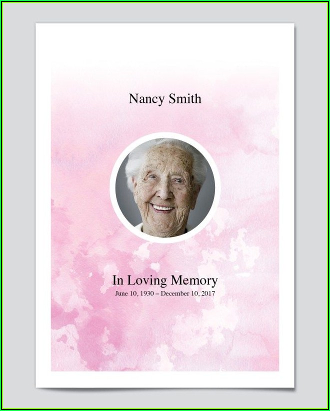 Free Funeral Programs Templates Downloads