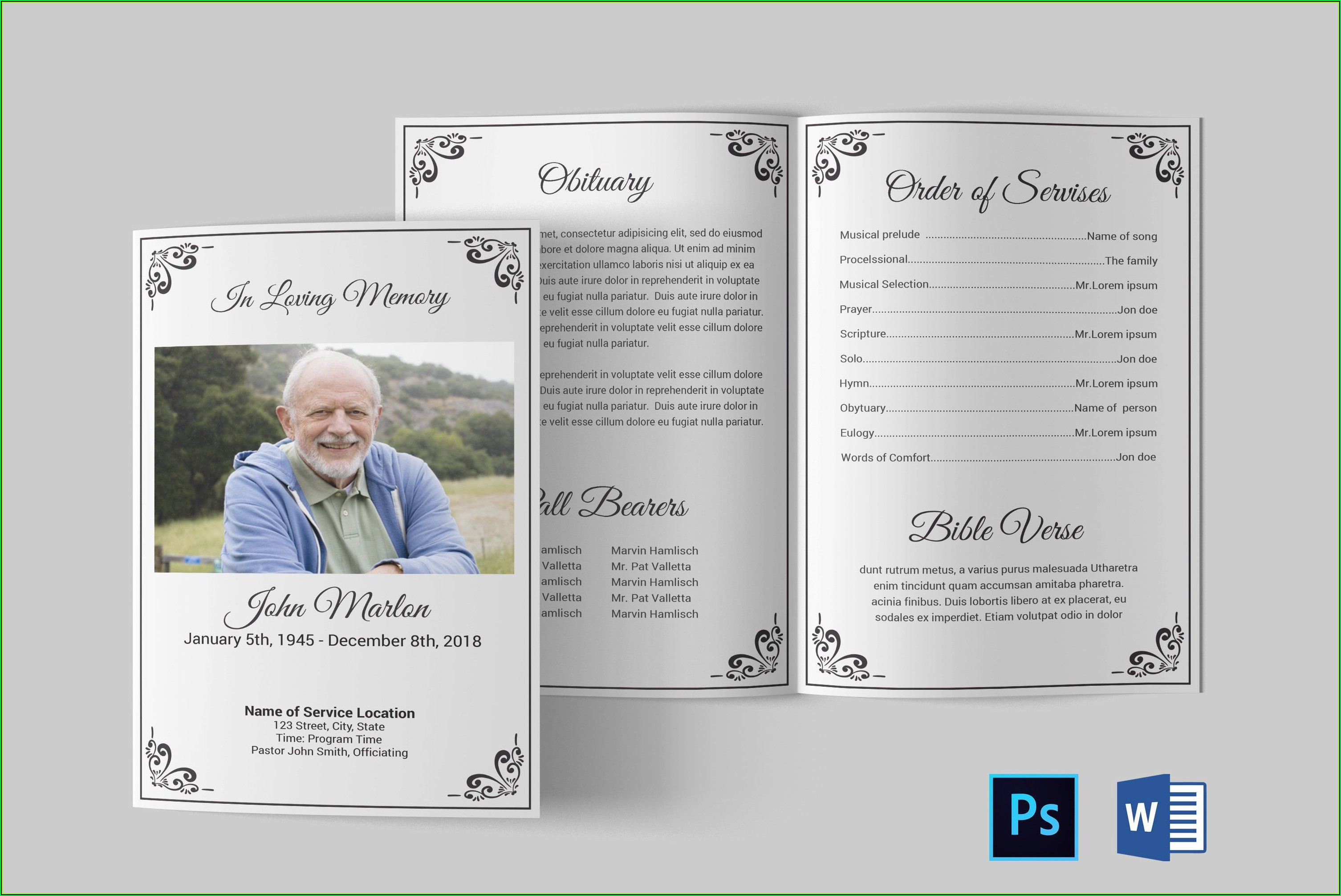 Free Funeral Programs Templates Microsoft Word