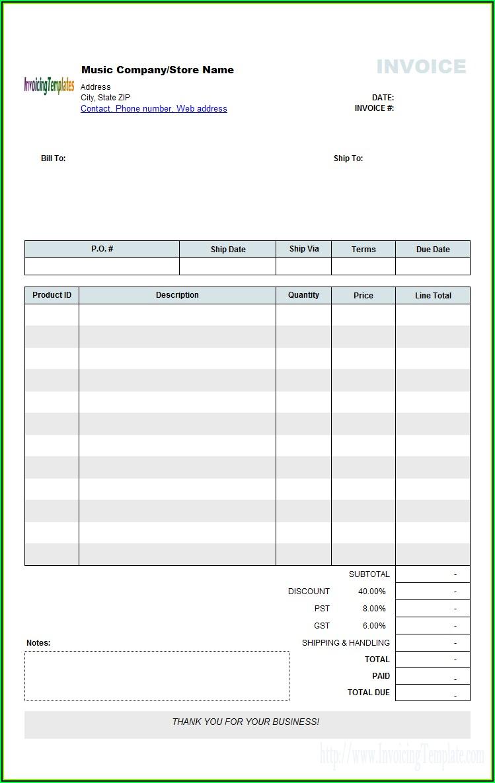 Free Microsoft Publisher Invoice Templates