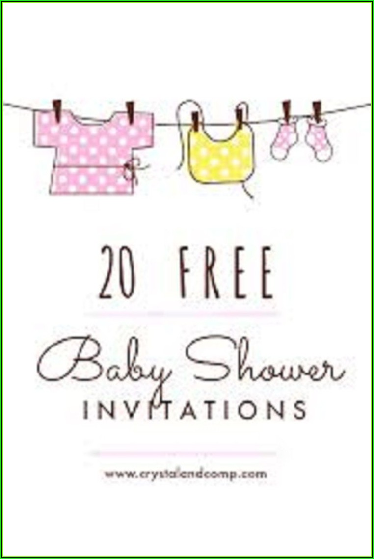 Free Online Baby Sprinkle Invitations Templates