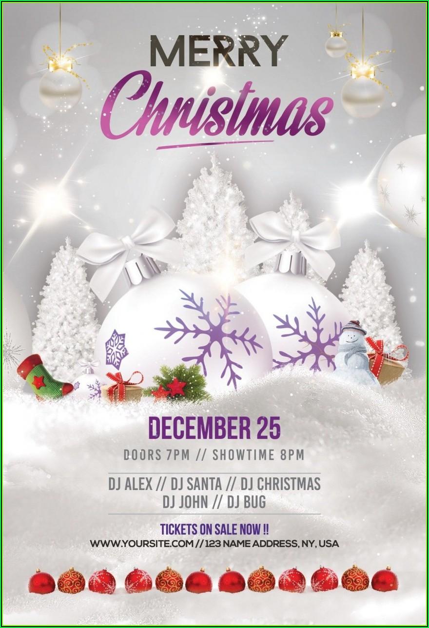 Free Printable Christmas Open House Flyer Templates