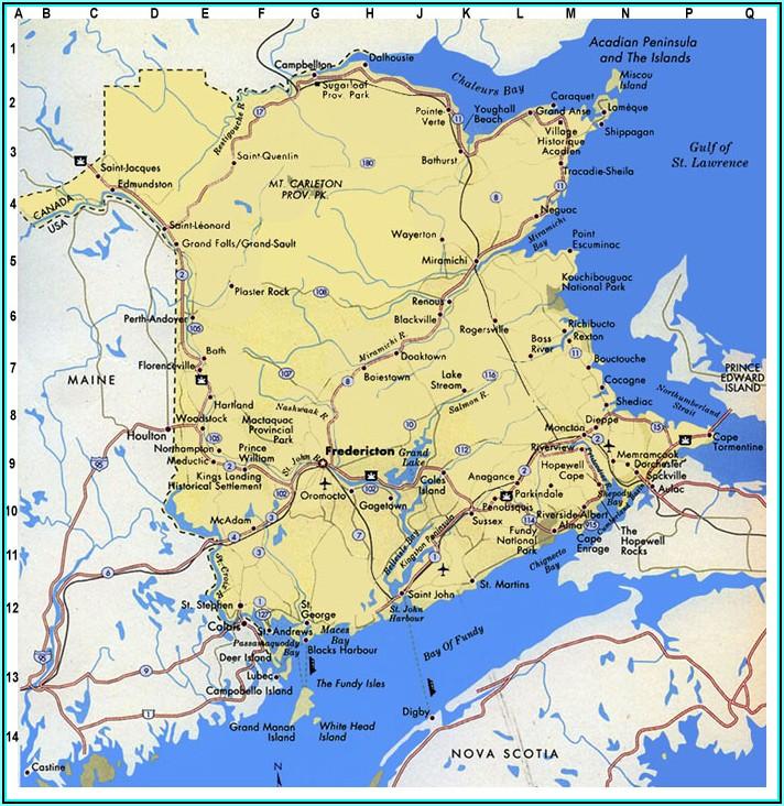 Free Printable Map Of New Brunswick