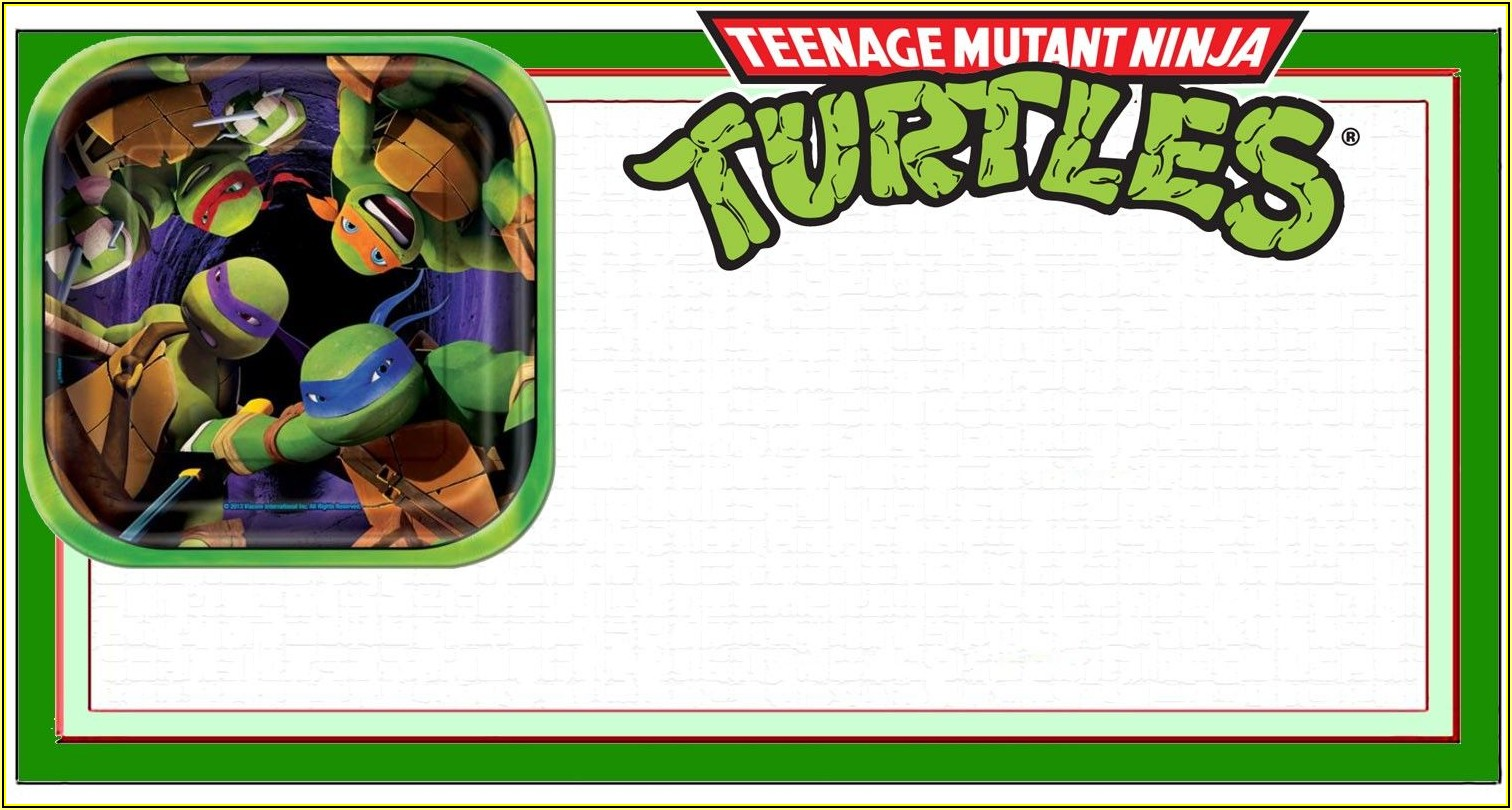 Free Printable Ninja Turtle Invitation Templates