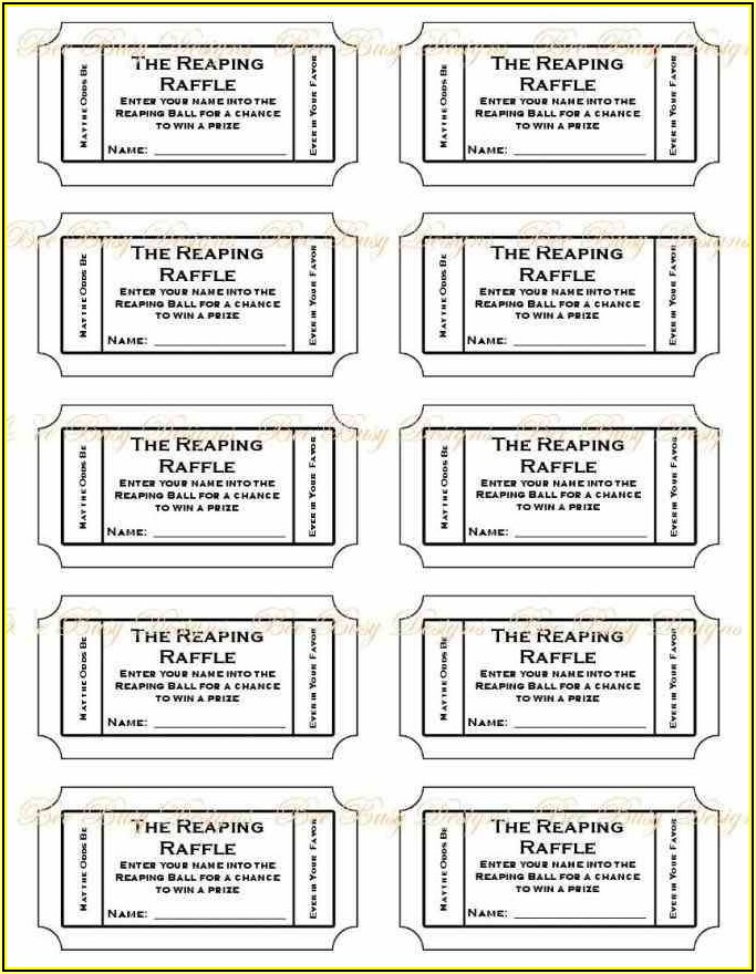 Free Printable Numbered Raffle Tickets Template