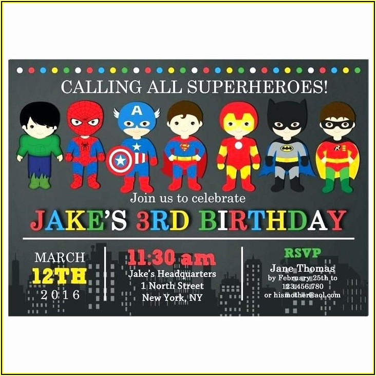 Free Printable Superhero Birthday Invitation Templates