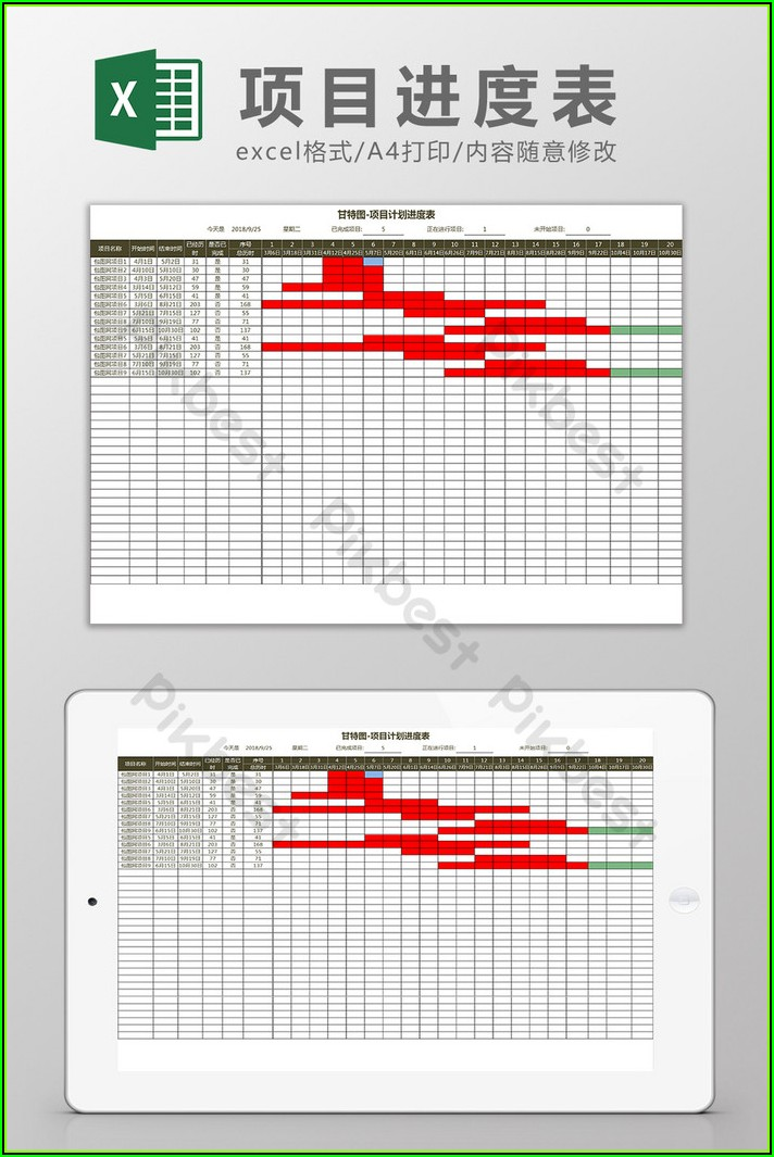 Free Project Plan Gantt Chart Excel Template