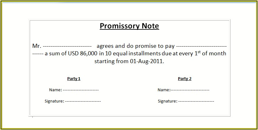 Free Real Estate Promissory Note Template