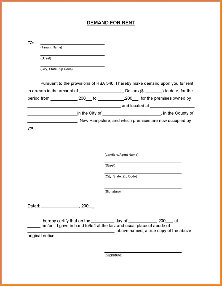 Free Rental Eviction Notice Forms