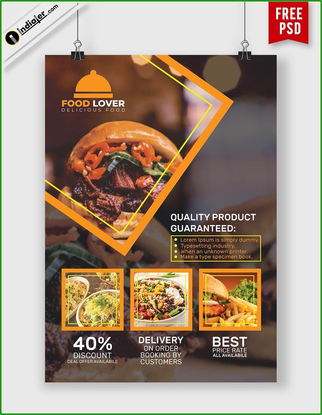 Free Restaurant Flyer Templates Photoshop