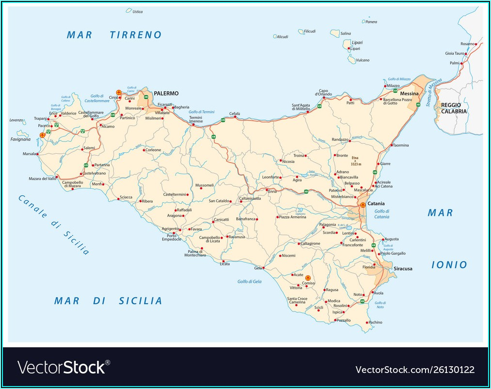 Free Road Map Of Sicily