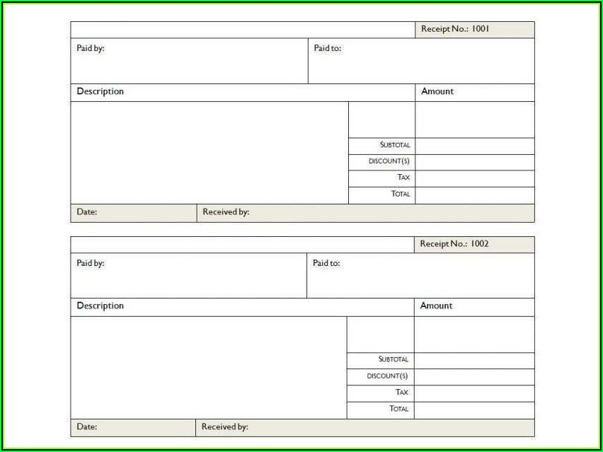 Free Template For Invoice In Word