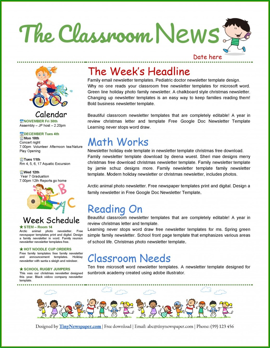 Free Templates For Newsletters In Microsoft Word