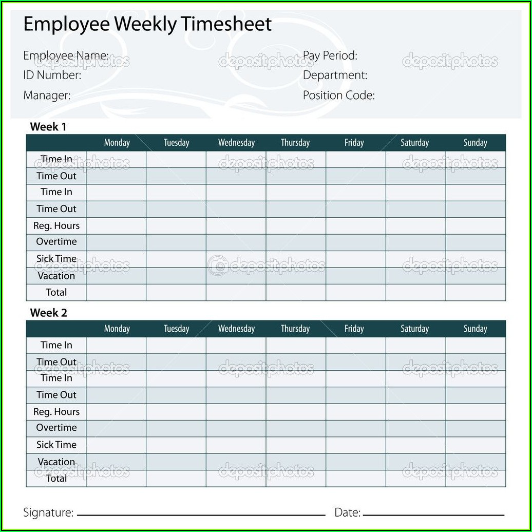 Free Timesheet Template Excel