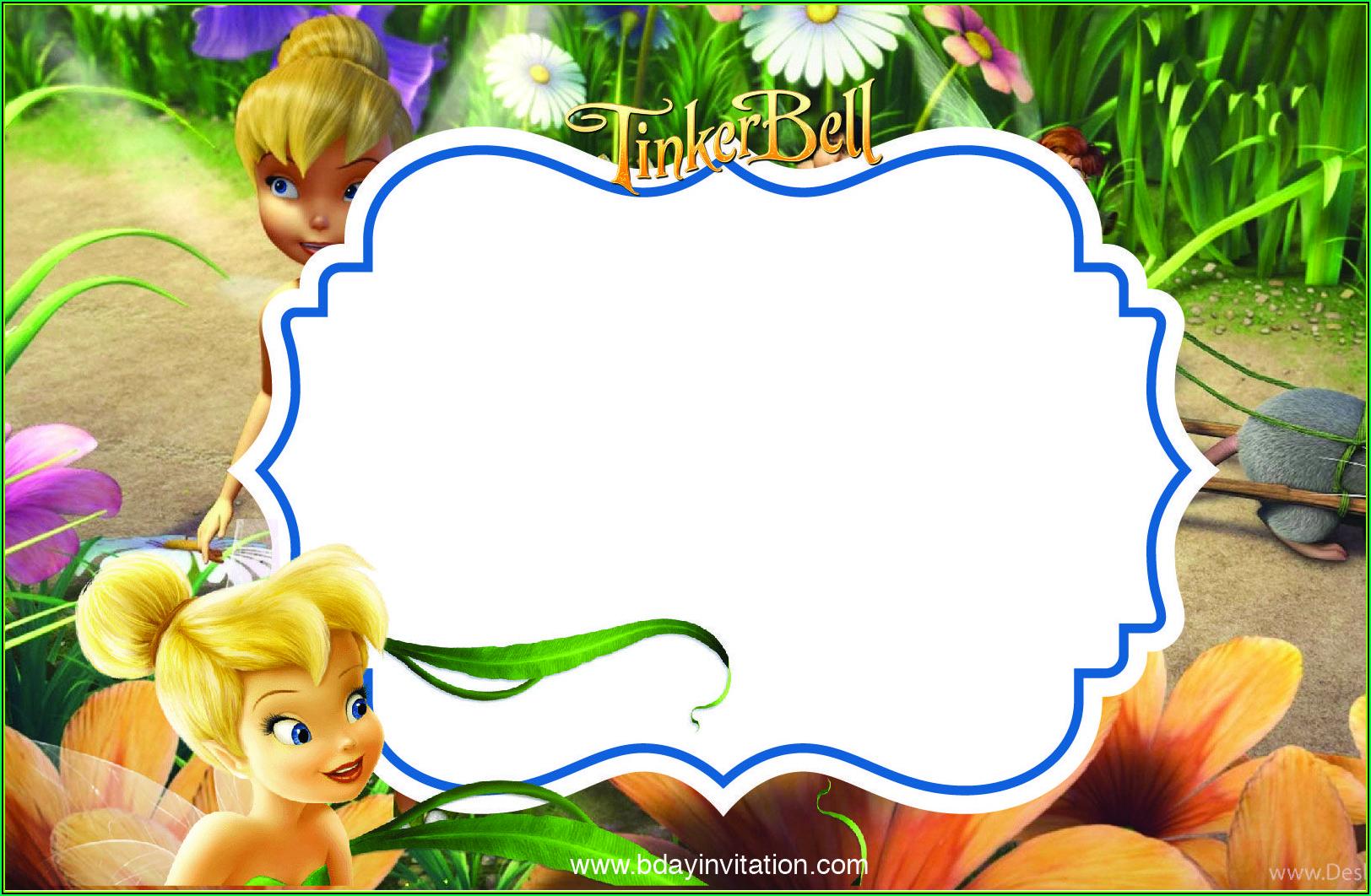 Free Tinkerbell Birthday Invitation Templates