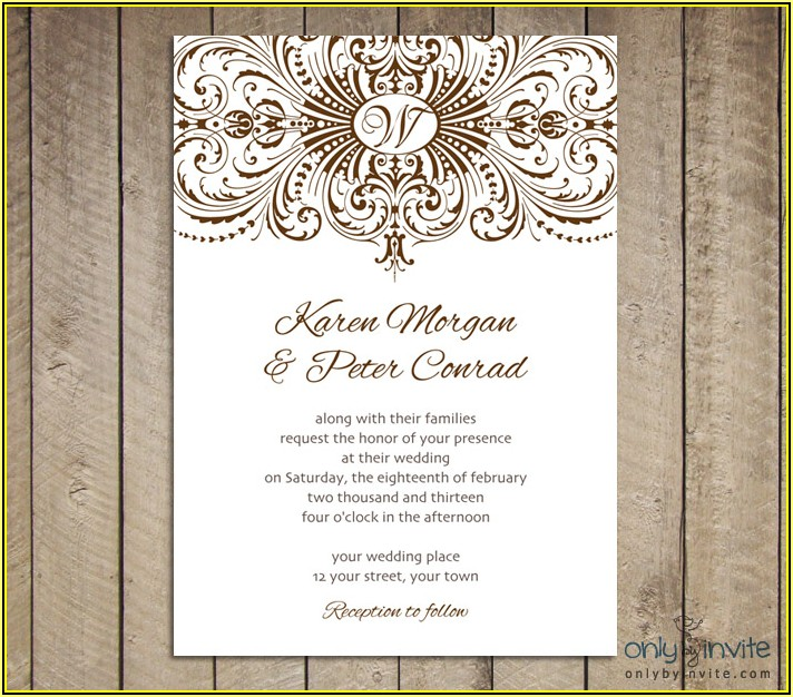 Free Vintage Wedding Invitation Card Templates