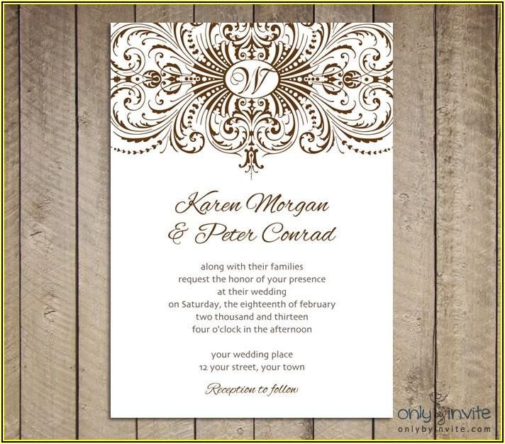 Free Vintage Wedding Invitation Card Templates
