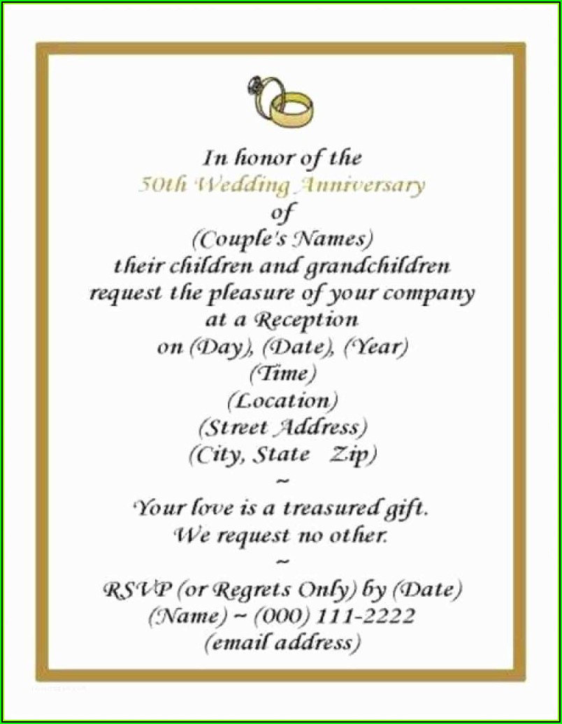 Free Wedding Anniversary Program Templates