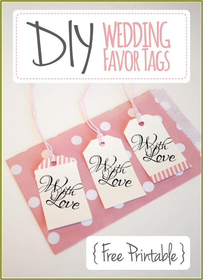 Free Wedding Favor Tag Template Printable