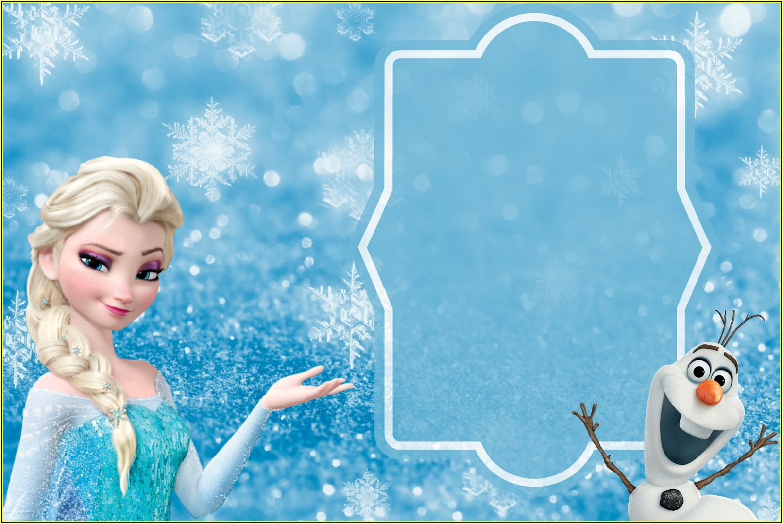 Frozen Themed Birthday Invitation Templates Online