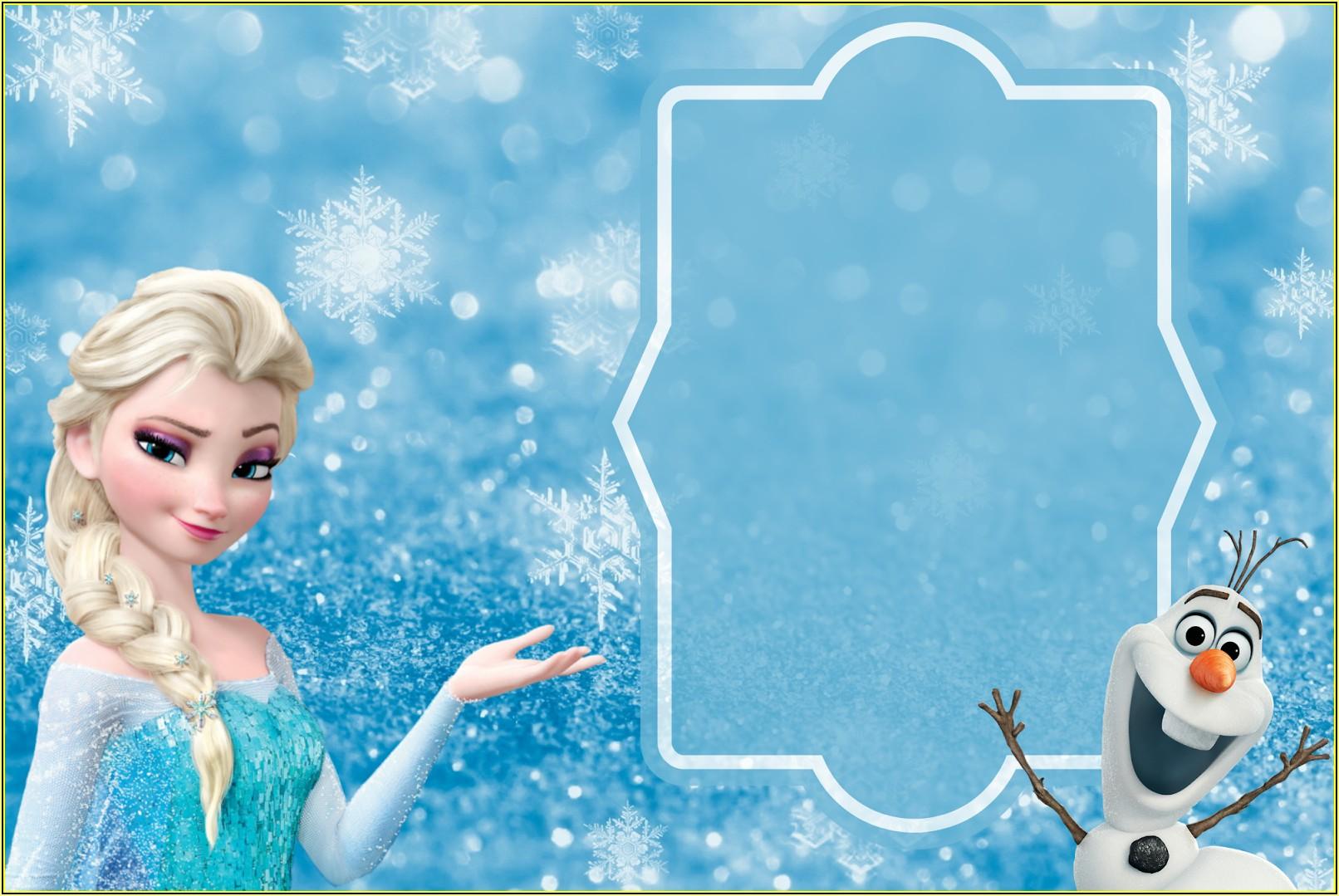 Frozen Themed Birthday Invitation Templates Online