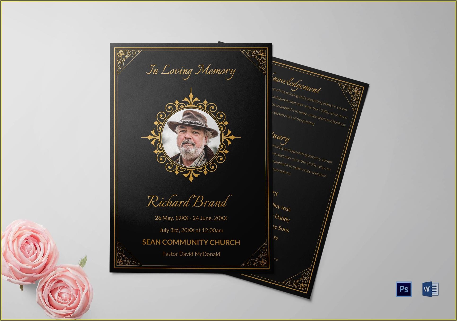 Funeral Bulletin Template