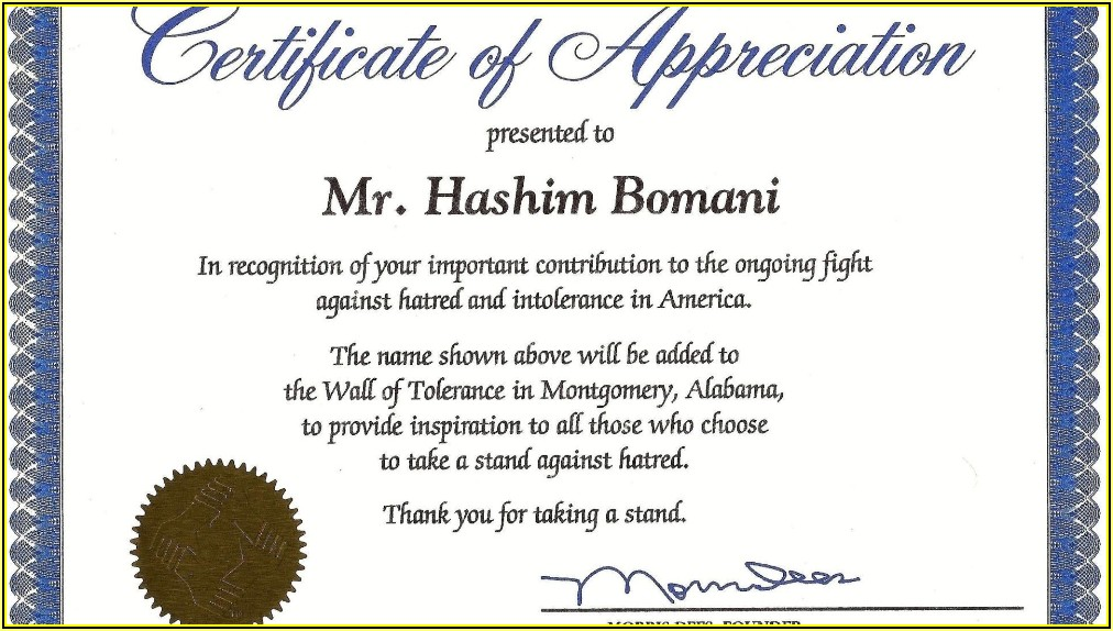 Funny Certificates Of Appreciation Templates