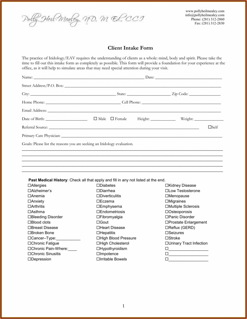 General Legal Client Intake Form