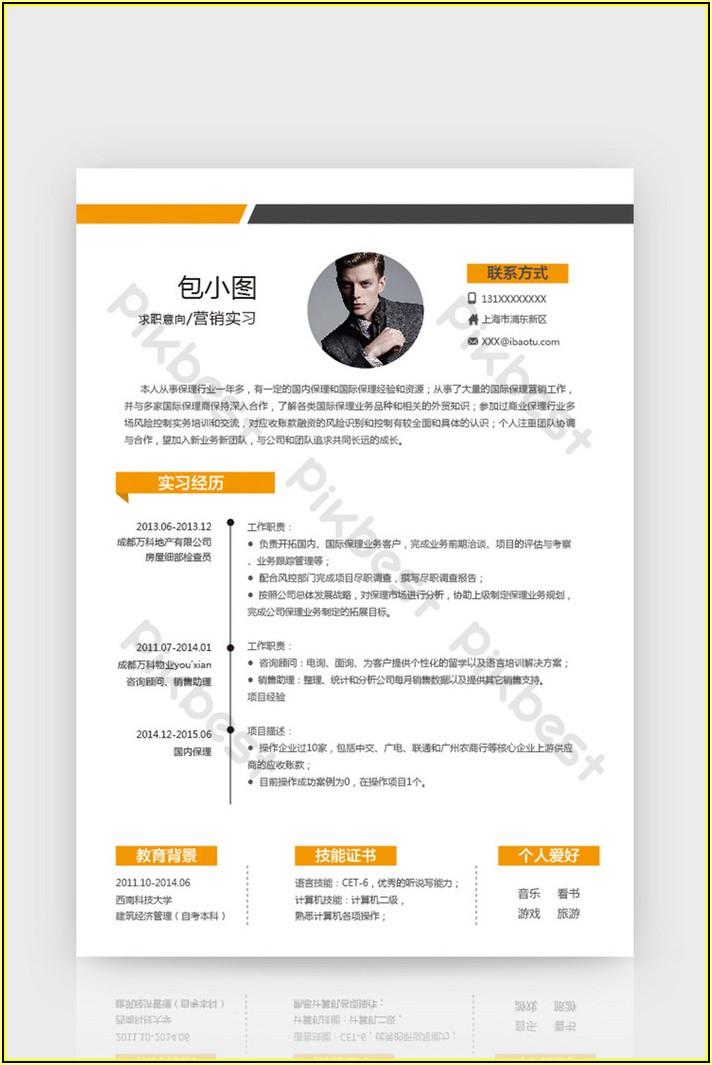Generic Resume Template Download