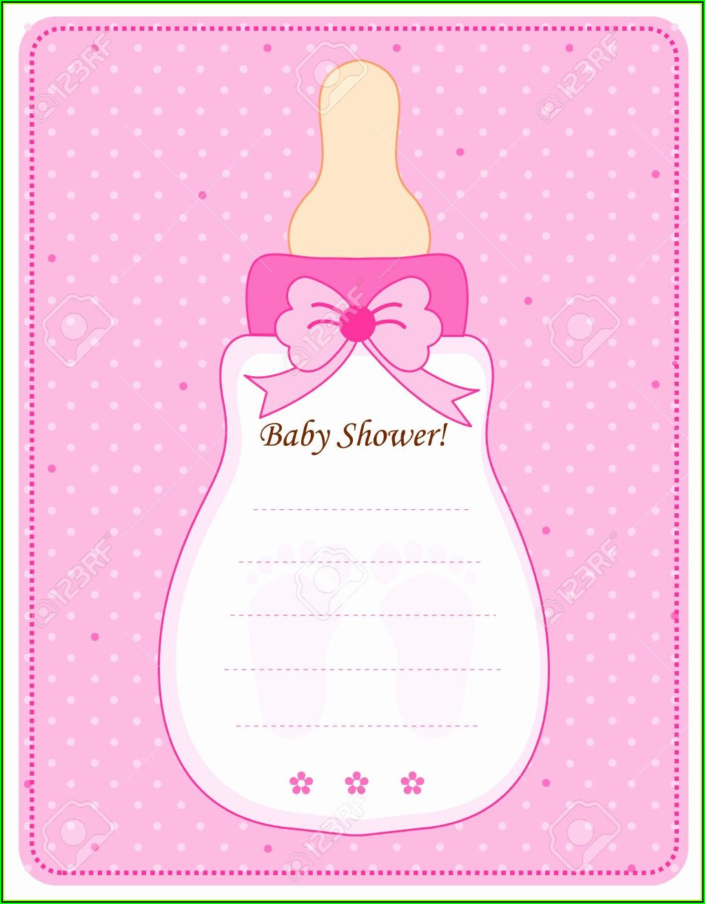 Girl Baby Shower Invitations Templates Editable