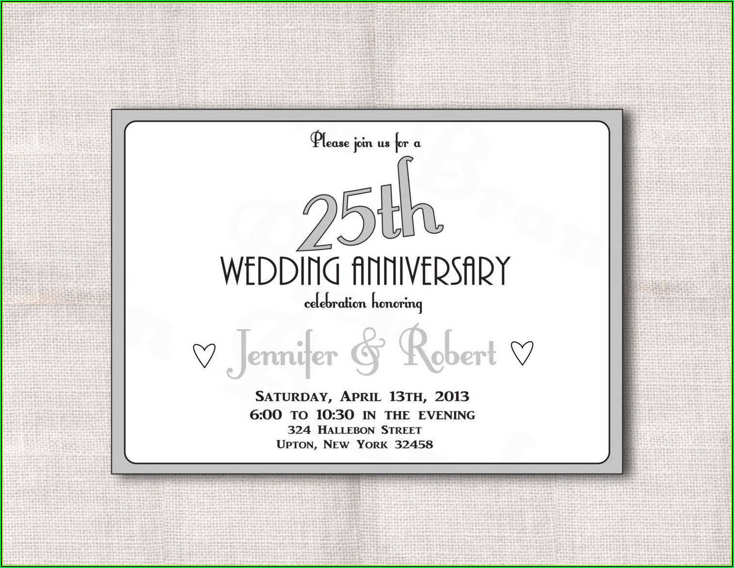 Golden Wedding Anniversary Invitation Templates