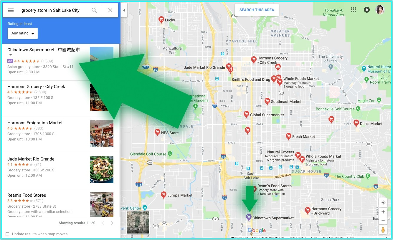Google Map With Pins For Locations