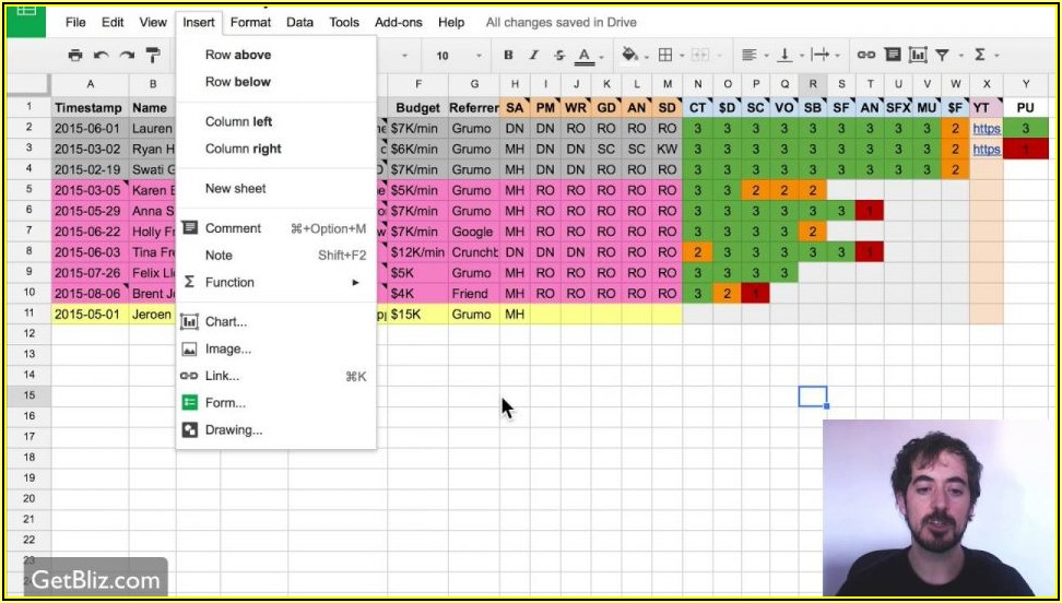 Google Sheets Templates Project Management