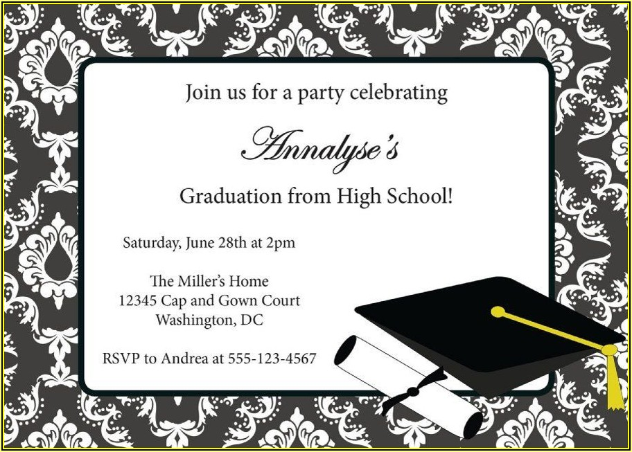 Grad Party Announcement Template